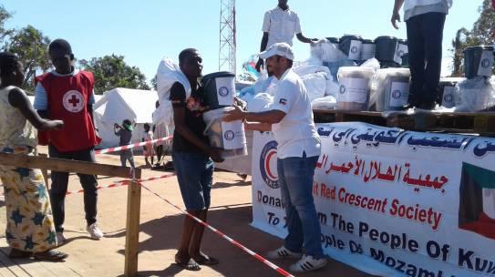 Kuwait entrega Kits de higiene e de dignidade para atender as vítimas do Ciclone Idai
